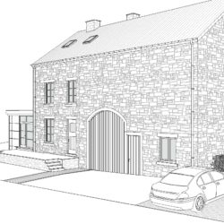 Plan d'un projet d'extension à Porcheresse